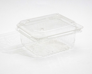 250 gm rectangular strawberry box, with flat connected lid    SN: 1210
