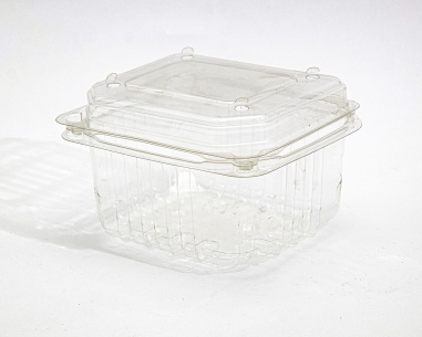 250 gm rectangular strawberry box, with dome connected lid   SN: 1211-1