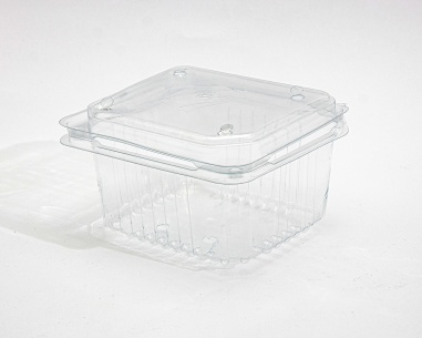 250 gm rectangular strawberry box, with dome connected lid    SN: 1211